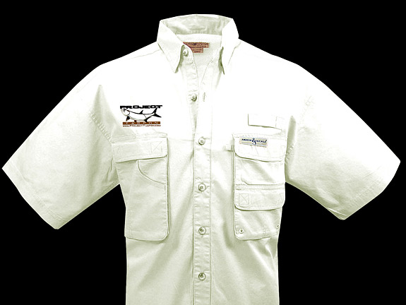 Project tarpon merchandise for Embroidered fishing shirts